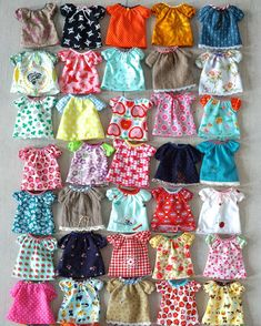 Beautiful shirts for blythe! By #miemadoll