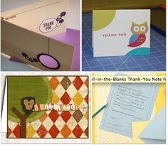 18 free printable cards to say thank you