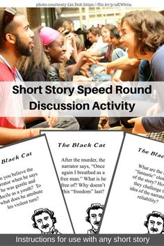 Use this fun, fast-paced game based on the speed dating concept to kick off a discussion for a short story unit, or as a stand-alone activity. From Laura Torres at Composition Classroom.