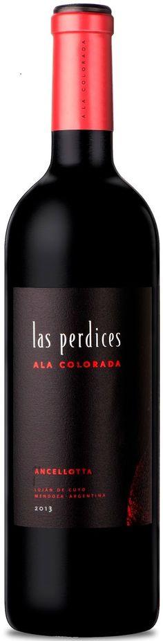 """Las Perdices Ala Colorada"" Ancellotta 2013 - Bodega Viña Las Perdices, Luján de Cuyo, Mendoza--------------------Terroir: Agrelo----------------Crianza: 15 meses en barricas nuevas de roble. 50% Roble Francés, 50% Roble Americano"