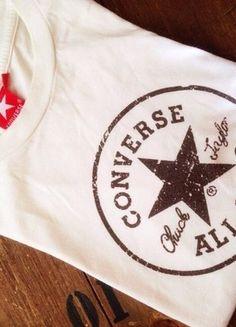a0ee585347006 t-shirt de la marque converse blanc et marron en parfait état !