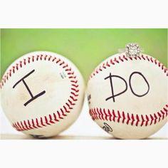 cute idea for baseball couple