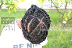 Flat Twists into French Twist Updo #NaturalHair #Hairstyle | Chocolate Hair / Vanilla Care