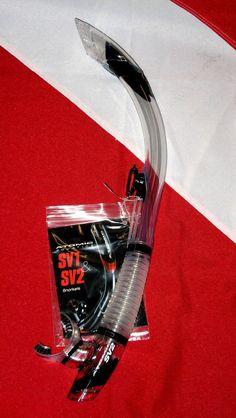 Atomic Aquatics SV2 clear/Black Snorkel scuba diving equipment semi dry travel  #AtomicAquatics    http://www.shop.sundancedivers.com