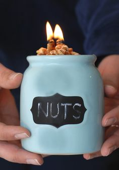 How To Make Walnut Candles!