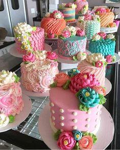 38 Ideas For Birthday Cake Chocolate Gorgeous Cakes, Pretty Cakes, Cute Cakes, Cake Decorating Techniques, Cake Decorating Tips, White Flower Cake Shoppe, Cupcakes Decorados, Colorful Cakes, Floral Cake