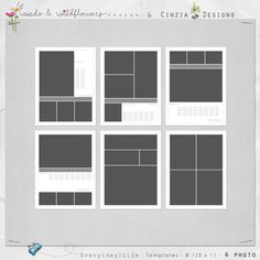 Oscraps :: Shop by Category :: Quick Pages/Albums :: Every{day} Life : 8.5x11 Templates – MEGAPACK