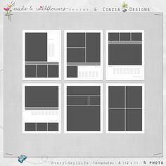 8.5x11 Templates – MEGAPACK #oscraps #designerdigitals #template #layout #photobooklayout #layoutidea #design #photobookspro