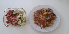 Bratkartoffeln mit Hähnchen und Salat auf kochen-verstehen.de #kochen #rezepte #kochrezepte #kochenverstehen #fitness #gesundessen #foodie #foods #delicious