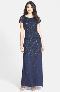 Adrianna Papell Beaded Gown. Classy and smart.