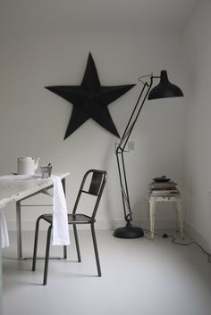 i love stars!  Emmas design blogg has some really cool rooms mixing modern and vintage design.