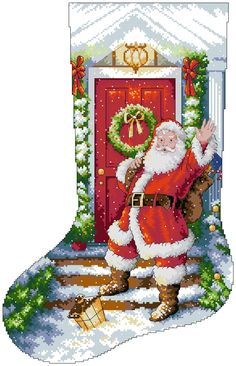welcome santa stocking-01