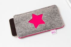 Hot Pink Felt star phone case