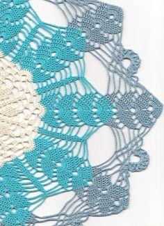 Large Wedding doily 19inch Gift Crochet doily lace by DoilyWorld, £14.00