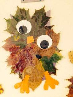 Easy to make with small children! Preschool Crafts, Diy Crafts For Kids, Arts And Crafts, Autumn Crafts, Autumn Art, Thanksgiving Tree, Fall Art Projects, Leaf Art, Creative Kids