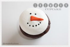 Snowman Cupcakes | Created by Diane