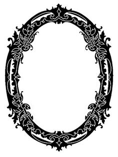 Vintage Clip Art - Stunning Silhouette Frames - Christmas - The Graphics Fairy