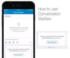 #linkedin ahora sugiere maneras de iniciar una nueva conversación