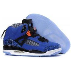 more photos fd3ef 765dc Buy Men s Nike Air Jordan Spizike Shoes New York Knicks - Blue  Ribbon Orange Flash-Black-White Lastest from Reliable Men s Nike Air Jordan  Spizike Shoes New ...