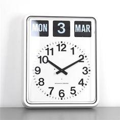 Alzheimer's Day & Date Wall Flip Clock Dementia Care, Alzheimer's And Dementia, Desk Clock, Flip Clock, Wall Clocks, Alzheimer's Day, Dealing With Dementia, Understanding Dementia, Living Room