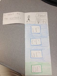 r controlled vowel flip books
