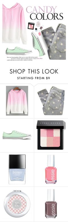 """""""Candy Colors"""" by beyond-creative ❤ liked on Polyvore featuring Marc by Marc Jacobs, Converse, Bobbi Brown Cosmetics, Butter London and Essie"""
