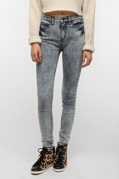 #UrbanOutfitters          #Women #Bottoms           #bdg #high-rise #twig #premiu #5-pocket #acid #spandex #indigo #thigh #hip #fitted #skinny #jean #stretch #leg #fit #super #high  BDG Twig High-Rise Jean - Indigo Acid               Overview:* 5-pocket jean cut super skinny from BDG* Our skinniest fit; sits just above the hip* Fitted through the hip and thigh; super skinny leg* Added spandex for stretch and movement* Tapered through the super skinny leg with a high rise* Premiu…