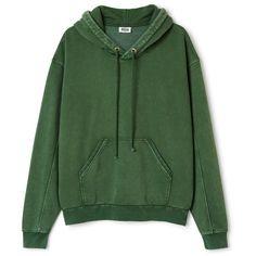 Ailin Hooded Sweatshirt ❤ liked on Polyvore featuring tops, hoodies, hooded top, green hooded sweatshirt, hooded sweatshirt, oversized hoodies and hoodie top