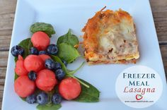 Have dinner ready with no mess and no fuss! Freezer lasagna from Super Healthy Kids #healthyfreezermeals