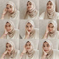 "Inspirasi Hijab Muslim di Instagram ""From @adelashr 🌷"" Simple Hijab, Casual Hijab Outfit, Hijab Chic, Pashmina Hijab Tutorial, Hijab Style Tutorial, Selfies, Selfie Poses, Selfie Ideas, Modern Hijab Fashion"