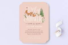 Fox Hollow Baby Shower Invitations