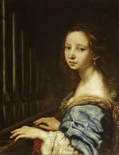 Saint Cecilia Playing the Organ, by Justus Sustermans. For keyboard instruments at the Horniman, visit #AtHomeWithMusic in the Music Gallery: http://www.horniman.ac.uk/visit/displays/music-gallery