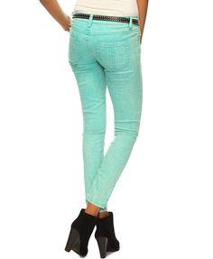 aqua jeans! Summer pastels!