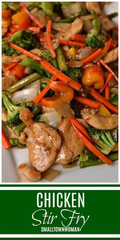 Chicken Stir Fry Stir Fry Dinner Broccoli Chicken Stir Fry Asian Inspired Meals Asian Meals Basic Chicken Stir Fry How To Stir Fry Small Town Woman Best Chicken Recipes, Asian Recipes, Ethnic Recipes, Chicken Stirfry Recipes, Potato Recipes, Soup Recipes, Vegetarian Recipes, Recipies, Chicken Broccoli Stir Fry