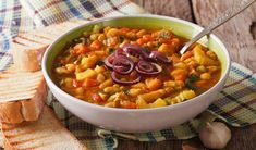 Ribollita means 're-cooked' in Italy, and slow cooking is the secret of this hearty winter vegetable soup designed for wood stoves. There are many different recipes and you can use any vegetable to your choice, but most Tuscan recipes ca. Growing Winter Vegetables, Winter Vegetable Soup, Roasted Vegetable Soup, Tuscan Recipes, Italian Recipes, Soup Recipes, Tuscan Bean Soup, Bread Soup, Gourmet