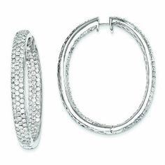PriceRock 8.6 Carat 14K White Gold Diamond In-Out Hinged Hoop Earrings - http://www.wonderfulworldofjewelry.com/jewelry/earrings/pricerock-86-carat-14k-white-gold-diamond-inout-hinged-hoop-earrings-couk/ - Your First Choice for Jewelry and Jewellery Accessories