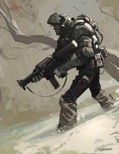 Soldier by Crazymic.deviantart.com on @DeviantArt