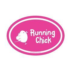 Running Chick Mini Mini Car Magnet - Pink