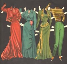 CAREER-GIRLS-PAPER-DOLLS-ORIGINAL-SET-FROM-1950