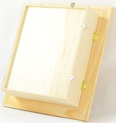 The medium shadow box is a completely sealed box that is perfect for storing any type of small collection or artwork.  This is an unfinished wood box that has many possibilities and options for finishing from paint to stain or decoupage.  Be creative and have fun with this miniature wood shadow box.