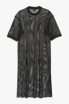 Mesh long dress