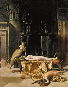The Death of Cleopatra by Collier, John (1850-1934)