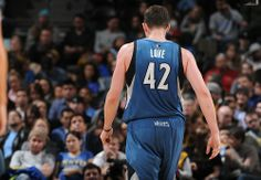 Kevin Love #42 of the Minnesota Timberwolves during a game against the Denver Nuggets on March 3, 2014 at the Pepsi Center in Denver, Colorado.   (Photo by Garrett W. Ellwood/NBAE via Getty Images)
