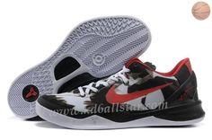 Blanc Noir Rouge Style 555035-101 Nike Zoom Kobe 8 VIII