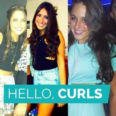 Straight hair no more! Hello Curls! #straighthair #curls #AlphaSigmaAlpha #PennState #sororitystylista #hair