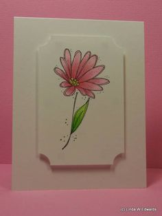 Pink Cosmos by uncbballfan - Cards and Paper Crafts at Splitcoaststampers