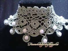 Crochet Pearl Jewelry by Fine Crocheted Jewelry www.finecrochetedjewelry.blogspot.ro