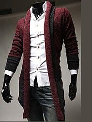 Men's Pure Cardigan , Others Long Sleeve