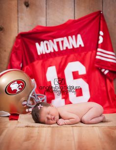 newborn girl photography go 49ers! with hawks or bears stuff or U OF I