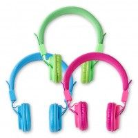 Super cool neon city headphones.  Awesome sound quality & style.  For just $5 | #fivebelow #headphones